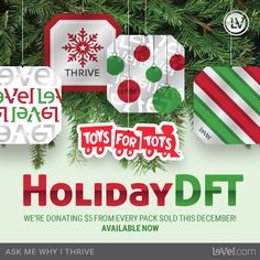 $5 from each sale is donated to Toys For Tots!! Grab your Lmtd. ED DFTs now.  Get your auto delivery switched :)