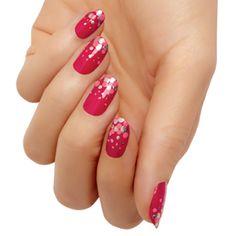 cranberry fizz - nail art by #essie #looks