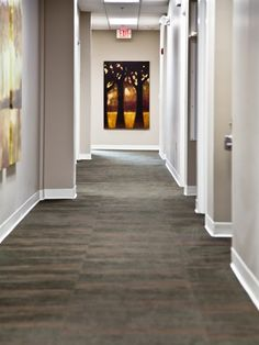 Mannington Commercial's Graffiti II carpet, brings this warm and welcoming space together.