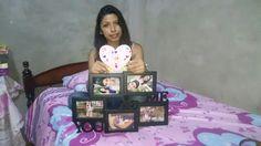 Cuadro con fotos 📷 nuestra y un corazón ♥ tipo carta ✉ regalo 🎁 del 3mes 05/02/16