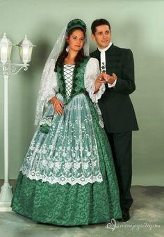 Beautiful green Hungarian costume