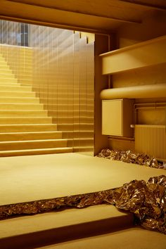 Normann Copenhagen's third major design exhibition takes the visitors along to a runway show, complete with glittering gold, glamour and unique showpieces.