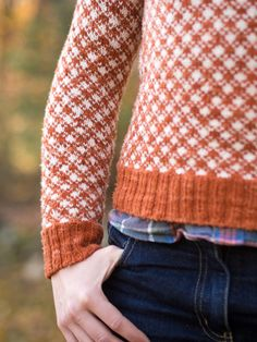 all-over knit gingham!