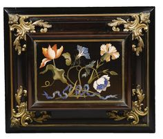 An Italian gilt-bronze and gilt-brass-mounted pietre dure, ebony and palisander casket, Galleria dei Lavori, Florence<br>last quarter century Chinoiserie, Decoration, Art Decor, Picture Frame Decor, Antique Boxes, Wholesale Furniture, Paint Furniture, Furniture Design, Mosaic Designs