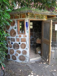 Chicken coop, but since ours is already constructed maybe I can do a goat house like this.