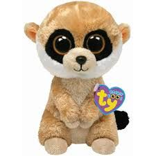 Ty Beanie Boos - Rebel the Meerkat Collect Them All ! Look for the familiar heart-shaped tag that means you've purchased an authentic Ty p. Big Eyed Stuffed Animals, Big Eyed Animals, Ty Animals, Plush Animals, Beanie Boo Party, Ty Beanie Boos Collection, Ty Peluche, Beanie Boo Birthdays, Rare Beanie Babies