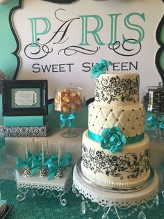 Stunning Paris birthday party! See more party ideas at CatchMyParty.com!