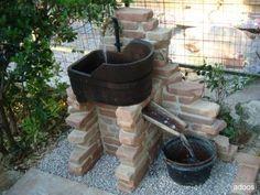 Fontana da giardino in pietra ricostruita mod azalea easy colore pietre del borgo localit - Fontane fai da te per giardino ...