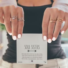 COMING SOON! Our Soul Sisters Arrow Rings. If y'all are interested you can sign up on our website under Coming Soon to be notified first when they're available <3 (Best Friend Rings)