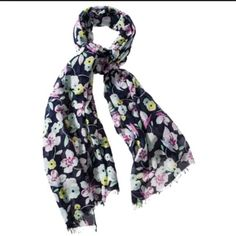 HP x2 Pretty cotton floral scarf HP by @blackcherry7 on 8/7/14 at the Girly Girl Party & Best in Jewelry & Accessories HP by my PFF @thestarrynight on 10/30/15 NWT- received as a gift but I'm not a scarf girl.⚠️Lowest price listed. No further reductions unless bundled Accessories Scarves & Wraps
