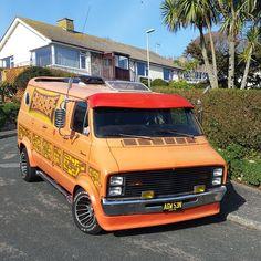 Orange Crush Custom Dodge Street Van