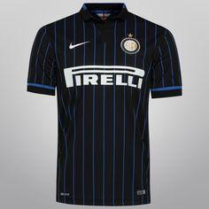 Camisa Nike Inter de Milão Home 14/15 s/nº - Preto+Azul