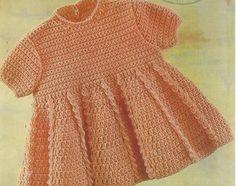 baby dress vintage crochet pattern PDF