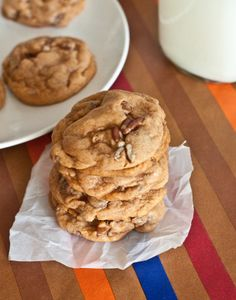 Chocolate Chip-Pecan Pumpkin Spice Pudding Cookies from Sweet Treats and More