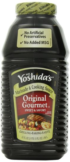 This stuff is awesome!! So many uses, our family prefers to make stirfry w/it!! LOVE IT!! Mr. Yoshida's Original Gourmet Sweet and Savory Marinade and Cooking Sauce63 Fluid Ounces: Amazon.com: Grocery & Gourmet Food