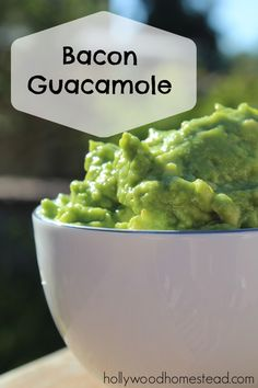 Bacon Guacamole - pure deliciousness!