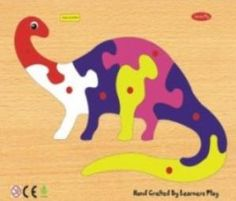 Apatosaurus Knob Puzzle - wooden Knob puzzle for kids to learn how to make Apatosaurus by assembling parts - At online kids toy shops in india and educational bookshop