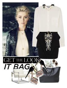 """""""Look #193 (Get the Look: It Bag)"""" by lookat ❤ liked on Polyvore featuring Moschino, sass & bide, Forever New, Mitchell Gold + Bob Williams, Miss Selfridge, Erickson Beamon and itbag"""