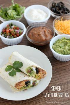 Seven Layer Burritos  on MyRecipeMagic.com