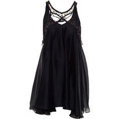 don't look down dress (1 625 PLN) ❤ liked on Polyvore featuring dresses, vestidos, black dress, short dresses, women, cut out dress, black sleeveless dress, circle skirt and black cutout dress
