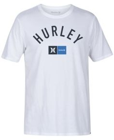 Hurley Men's Dri-fit Premium Graphic-Print T-Shirt - White XL Vans Outfit Men, Hurley Clothing, Hurley Shirt, Tshirts Online, Streetwear Brands, Shirt Designs, Tee Shirts, Mens Tops, Graphic Prints
