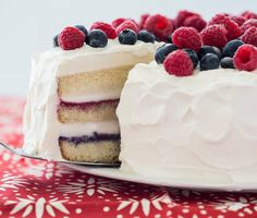 Red White and Blue Ice Cream Cake Photo - Red White Blue Desserts Recipe | Epicurious.com