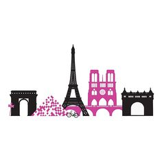 The Springtime in Paris Wall Decal Kit from WallPops! is an instant update for any room. Featuring famous Paris landmark silhouettes, this peel-and-stick design is easy to apply, remove, and reposition without damaging walls or leaving sticky residue. Paris Landmarks, Springtime In Paris, Paris Theme, Paris Decor, Pink Paris, Paris Wall Art, Paris Pictures, Wallpaper Decor, Floating Frame