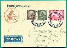 a 1933 zeppelin 4 saf bordpost on board mail rio de janeiro brasil air