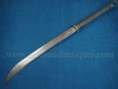Oversized 19th C. Antique Qing Dynasty Chinese Dao Jian Sword or Saber