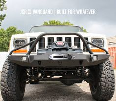 Our Vanguard XJ Front Winch Bumper is built for whatever you can throw at it.  Available now at:  http://jcr.us/xjfvwb  #BuiltForWhatever #jcroffroad #cherokee #cherokeexj #mallrated