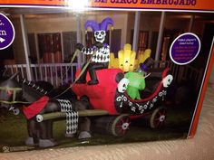 Halloween Inflatable Airblown Gemmy Antimated Circus Wagon New in Box 12 Ft | eBay