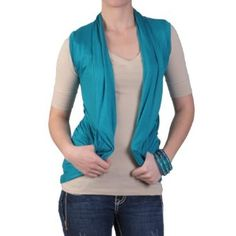 Hailey Jeans Co Juniors Lace Backed Sleeveless Open Front Cardigan