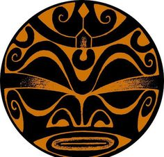 Croquis de Tatouage de Symbole Ronde Tiki gros Yeux