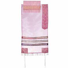 Yair Emanuel Organza Tallit Pink