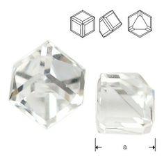 4841 Cube 4mm Crystal CAVZ  Dimensions: 4mm Colour: Crystal CAVZ 1 package = 1 piece 1 Piece, Cube, Swarovski, Container, Colour, Crystals, Color, Crystals Minerals, Crystal