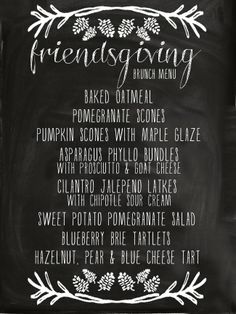 Ruffled Sunshine: Friendsgiving Brunch Menu with links to all of the recipes