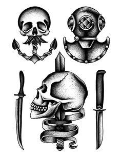 Kamil Czapiga Tattoo Flash | KYSA #ink #design #tattoo