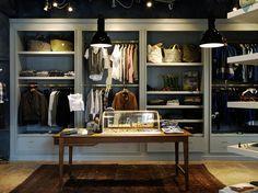 Todd Snyder store in Tokyo Japan fashion Shop Front Design, Store Design, Visual Merchandising, Tokyo Japan Fashion, Suit Stores, Japan Store, Retail Interior Design, Todd Snyder, Shops