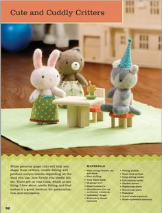 Cute and Cuddly Critters Sewing Pattern Download