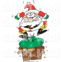 Funny Santa Cartoon | Christmas Vectors | Pinterest