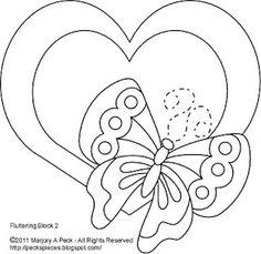 Peck's Pieces: Free Applique Pattern series: Fluttering, Block II#