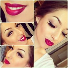 MAC Rebel, berry colored lipstick - (Claireyclairee) Instagram.  Also comes in lip gloss and nail polish.