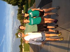 Getting setup for the Heroes 6k! With Sean, Stephanie, and Denise in Louisville, CO.