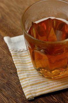 飲みやすい♪黒酢はちみつドリンク。