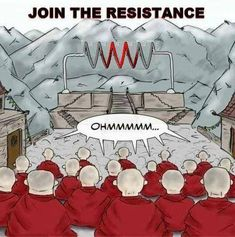 One of my favourite #vape pictures! A group of (buddhists?) sitting chanting ohmmmmm in front of a coil.