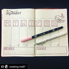 #september #weeklyspread #bujo #journal #page by @creating.me87