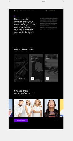 Rootslive Website Design by Karolina Pe? Webdesign Inspiration, Website Design Inspiration, Ui Ux Design, Interface Design, Flat Design, Graphic Design, Web Layout, Layout Design, Website Layout