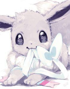 I've never seen Eevee look so cute•3• Cute Pokemon, Eevee Cute, Pokemon Eevee, Pokemon Fan Art, Pikachu, Eevee Evolutions, Digimon, Pokemon Rouge, Shiny Eevee