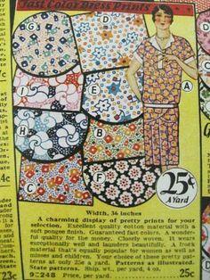 Vintage fabric textile designs - 1929