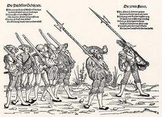 Der Heereszug der Landsknechte. Blatt 3, Die Büchssen Schutzen und die Fuerer (um 1535)